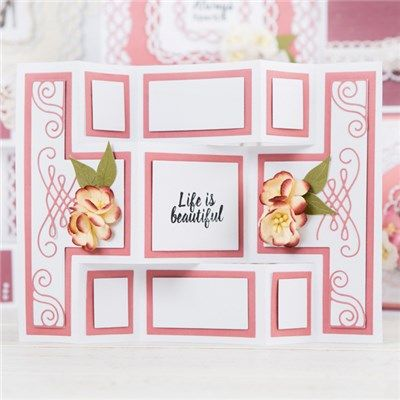 Tattered Lace Essentials Mini Shutter Card, Mini Circle Stepper and Pearl Pin…