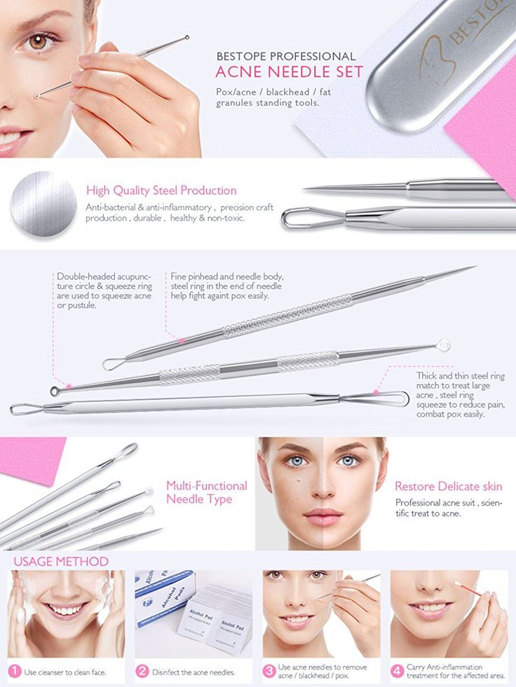 BESTOPE Blackhead Remover Pimple Comedone Extractor Tool Best Acne Removal Kit - Treatment for Blemish, Whitehead Popping, Zit Removing for Risk Free Nose Face Skin with Metal Case: Amazon.ca: Beauty #acnepopping,