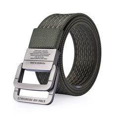 JCT❤️.  120CM Men Nylon Double Ring Alloy Buckle Belt Outdoor Sport Military Tactical Durable Pants Strip