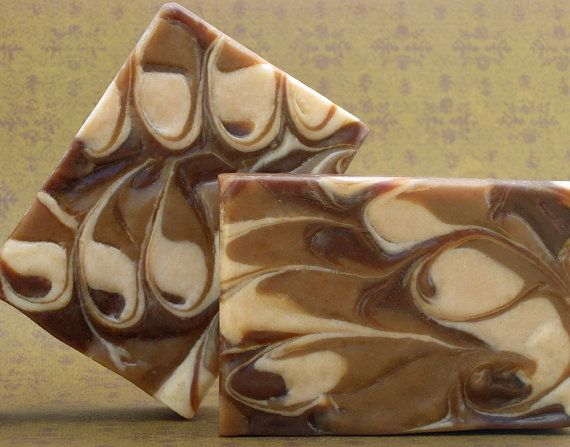 Chai Latte Soap with Hemp Seed Oil and Goat's Milk by Rain Tree Botanicals. I love the swirls of this soap!
