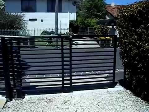 See how  Telescopic gate closes - usually used in driveways that cannot use normal Sliding/Swinging gates due to the size of the driveway. https://goo.gl/rG0yK0