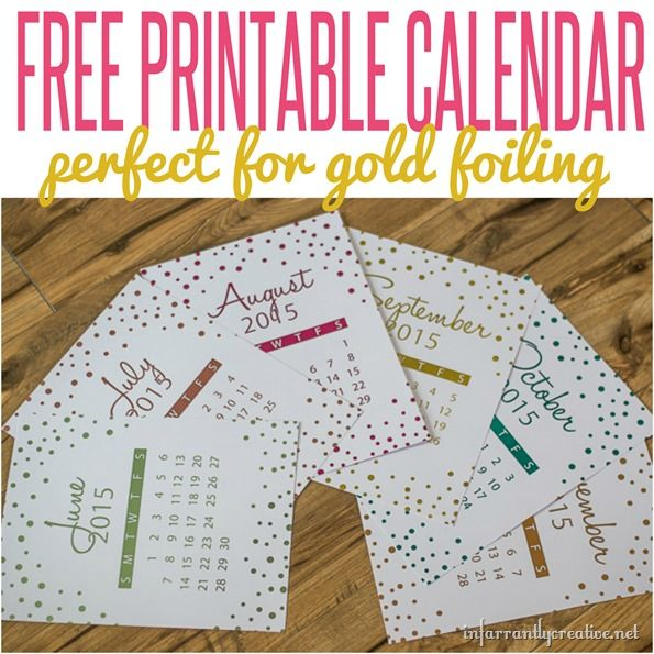 A great free DIY calendar! Just print and run through your @HeidiSwapp Minc to foil!