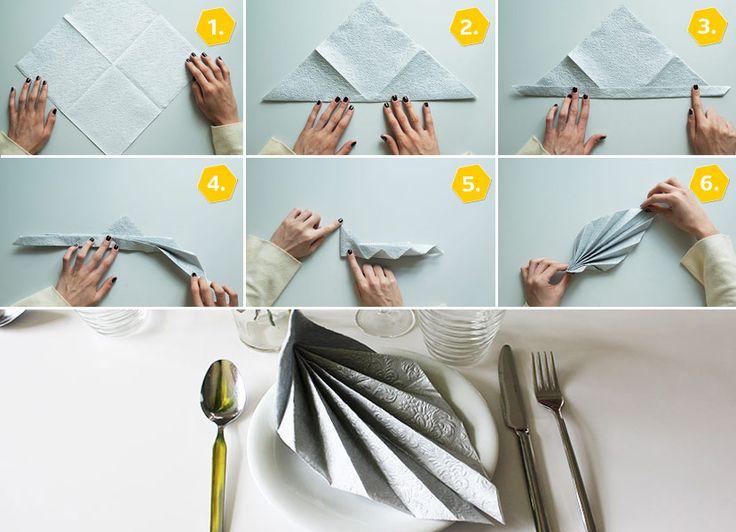 Ber ideen zu faltblatt auf pinterest brosch ren - Papierservietten falten anleitung ...