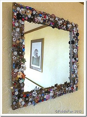 Decorated Mirror Using Old Jewellry