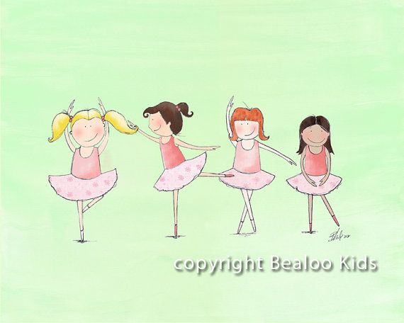 Ballerina Nursery Art Dancers  8x10 Print by bealoo on Etsy, $15.00