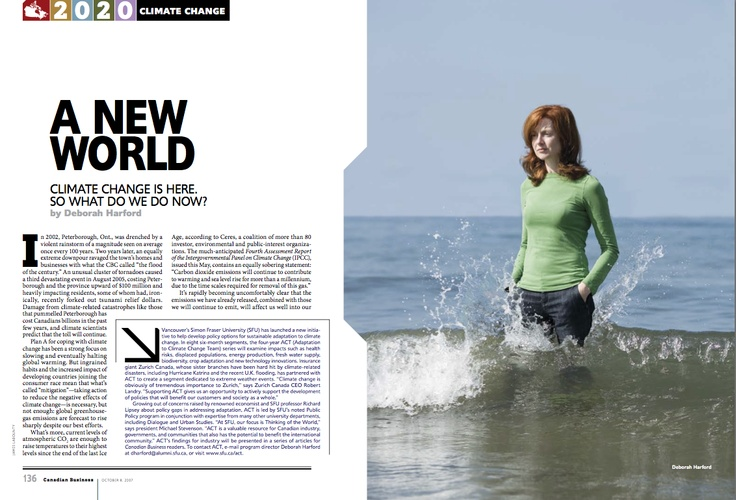 """Silver winner in Portrait #Photography. """"A New World"""" by James Labounty published in #Canadian Business, 2007."""