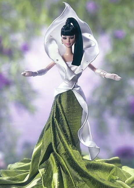2002 The Calla Lily Barbie® Doll | Barbie Flowers in Fashion Collection *FASHION