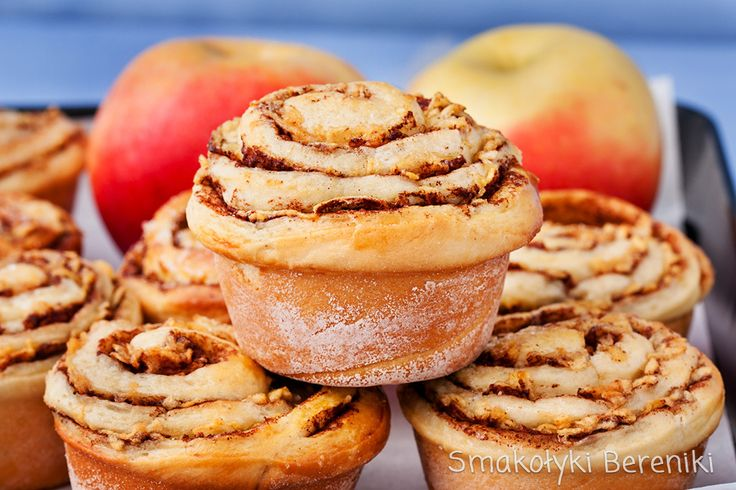 Drożdzowe muffiny zawijane