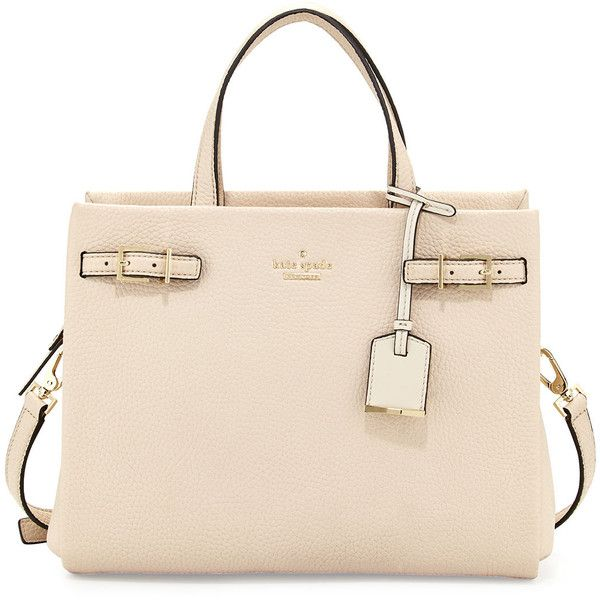 kate spade new york holden street olivera bagpebble ($378) ❤ liked on Polyvore featuring bags, handbags, purses, pebble, structured handbag, kate spade purses, pink purse, zip bags and zipper purse