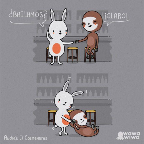 Bailando con un perezoso. #humor #perezoso