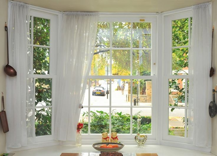 Sliding sash window bay manufactured and installed by The Sash Window Workshop