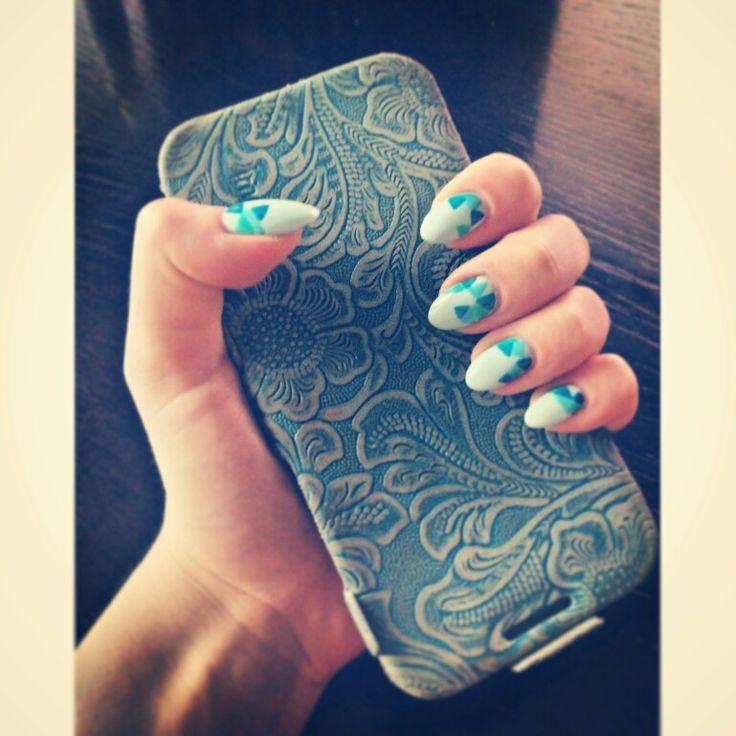 Blue icon design nails.  https://instagram.com/holla_jazzy/