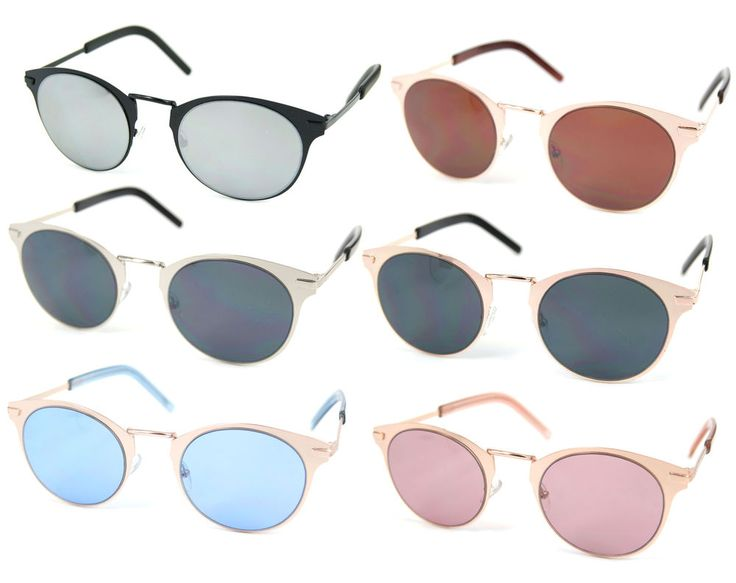 3 FÜR 2 Sonnenbrille Retro Wayfarer Brille Sunglasses Cateye Metallrahmen UV400
