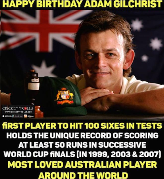 Happy Birthday Adam Gilchrist - http://ift.tt/1ZZ3e4d