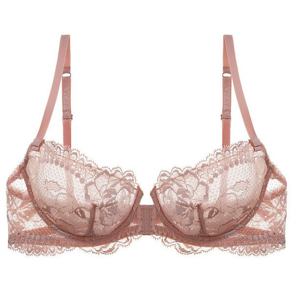 La Perla Begonia Balconette Bra (1.065 ARS) ❤ liked on Polyvore featuring intimates, bras, lingerie, underwear, intimo, rosa, balcony bra, lace lingerie, floral bra and lacy bras