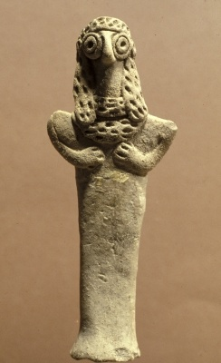 Figurine of Asherah, Canaanite, 999-600 BC (clay), bronze age