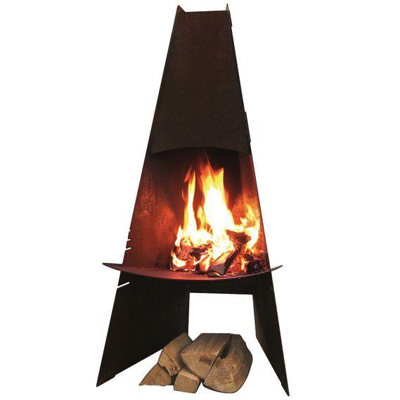 Aduro Outdoor Steel Chimenea - Corten Steel