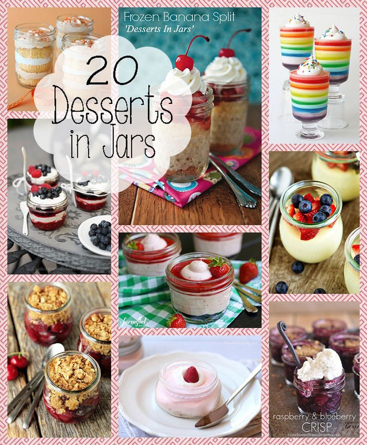 SIGH....looking for salad in a jar and found this.....20 Desserts in a Jar ~ a delicious and SWEET roundup