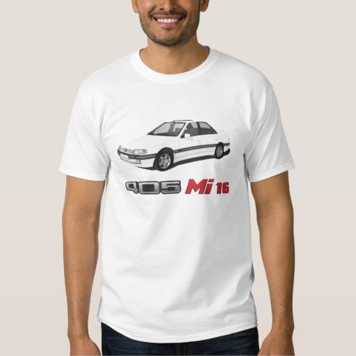 Peugeot 405 with Mi 16 red badge DIY #peugeot #peugeot405 #automobile, #car #t-shirt, #print #europe #france #mi16 #405mi16  #white