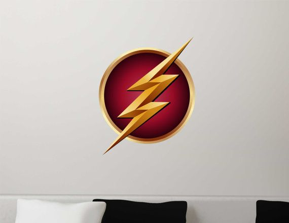 the flash symbol logo gift fathead style repositionable. Black Bedroom Furniture Sets. Home Design Ideas