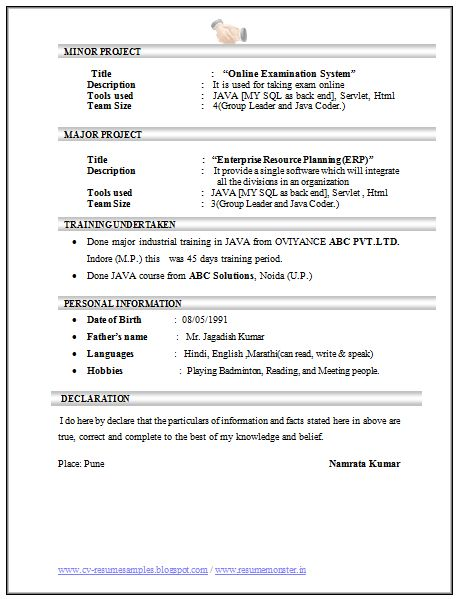 Computer Science and Engineering Resume Sample (3)