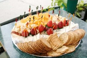 craft services cheese and crackers tray