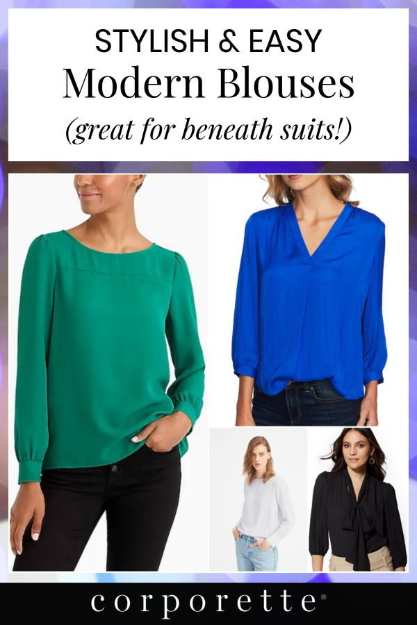 0e1ef00bdbf We went on a hunt for modern blouses for under suits -- particularly if you