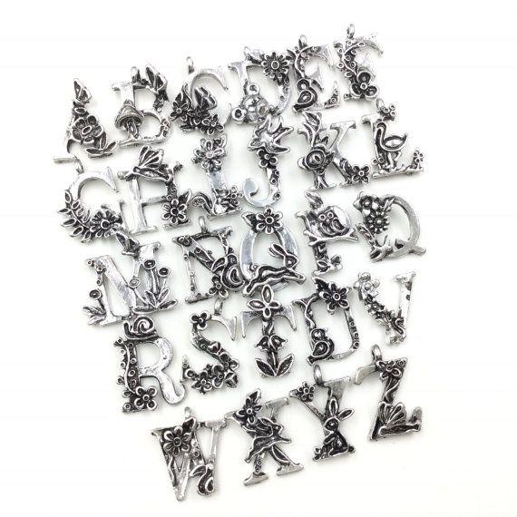1 set di 26pcs Mix molto antico Charms placcata argento smalto