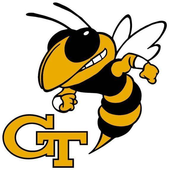 Georgia Tech Yellow Jackets Transfer Decals Set of 4