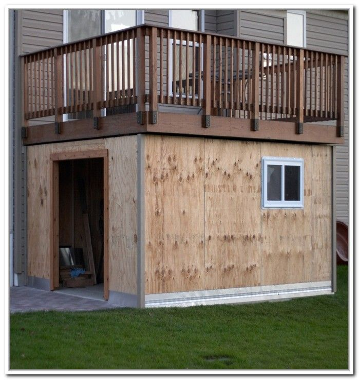 48 best images about outdoor design ideas on pinterest for Garage under deck