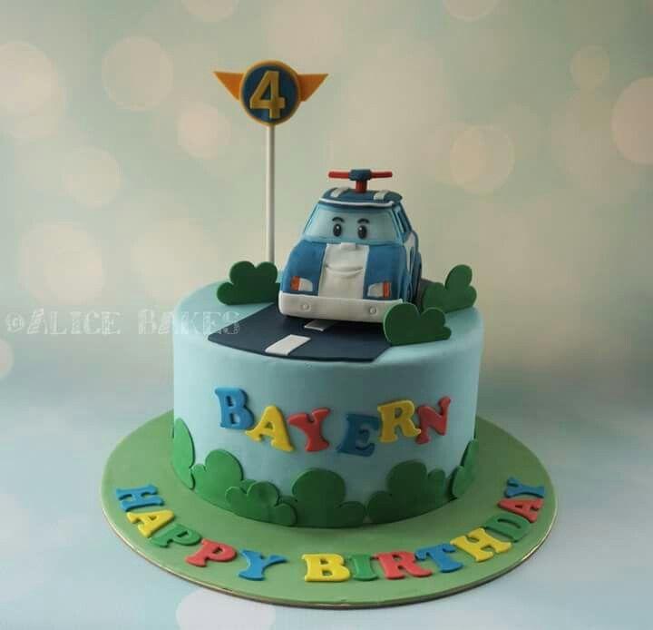 Robocar Poli, Police car theme cake