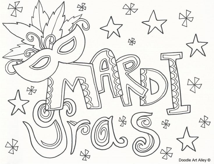 This is a picture of Peaceful Mardi Gras Coloring Pages Free Printable