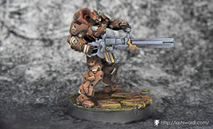 Infinity The game. Haqqislam Special Deterrance, Azrail Feuerbach. Painted by Giye. Right side.