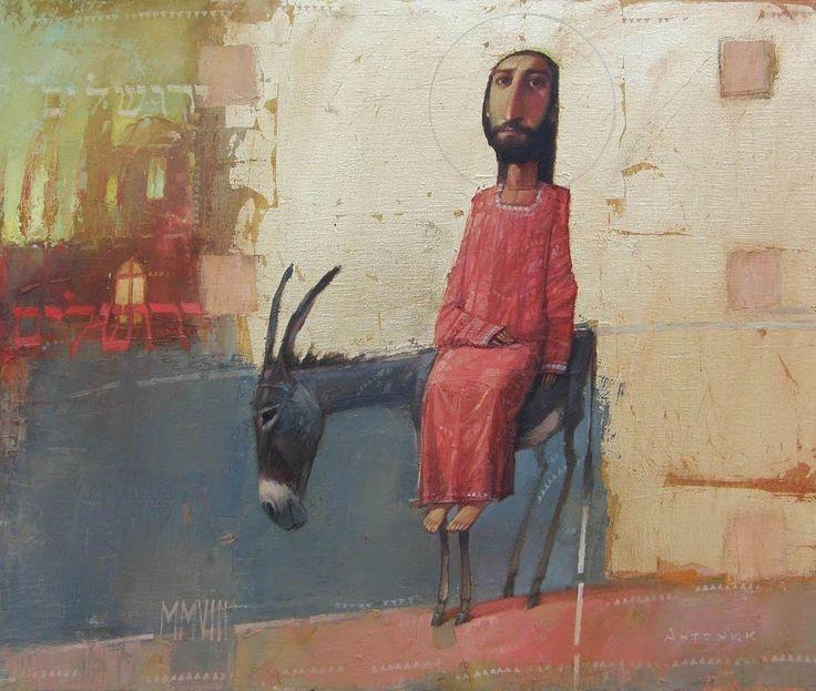 Art - Jesus' Triumphal Entry into Jerusalem - Oleksandr Antonyuk