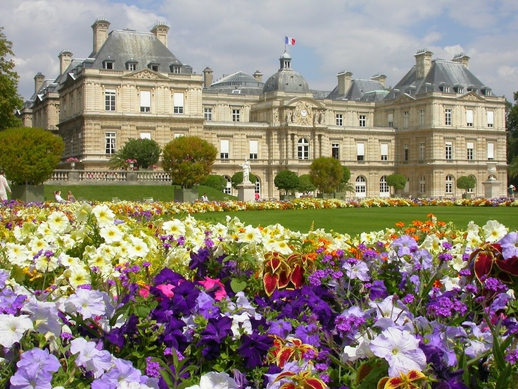 Paris, where palatial structures are often mirrored with colorful gardens and verdant lawns