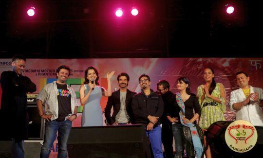 The first Sunday of February this year, saw an extraordinary evening at the New Hindi Film Queen Music Launch. It was officially a part of the prestigious Kala Ghoda Arts Festival's schedule. : http://sholoanabangaliana.in/blog/2014/02/03/new-hindi-film-queen-music-launched-amit-trivedi-enthralls-the-audience-with-his-performance/#ixzz2sK0wLEd2