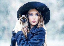 Kobieta, Kot syjamski