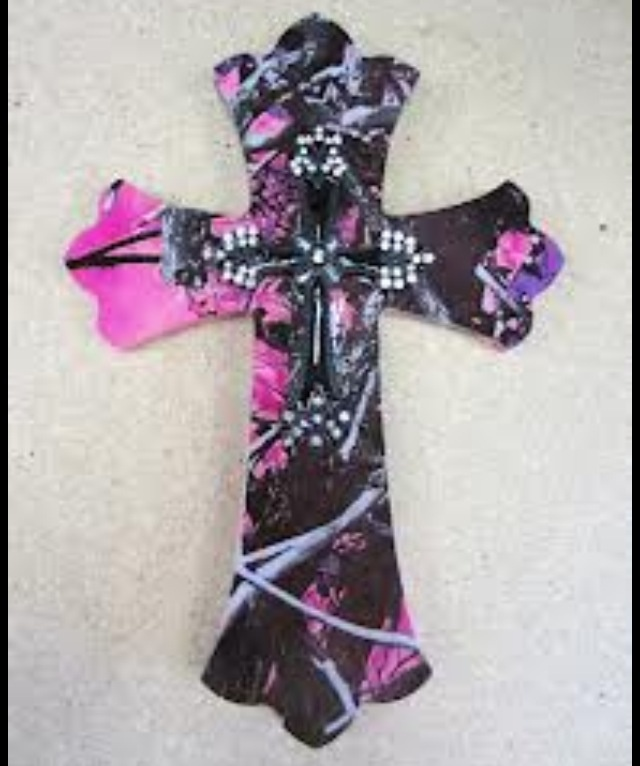 Camo crossDecor, Camo Crosses, Pink Camo, Wall Crosses, Country Girls, Muddy Girls, Girls Camo, Camo Wall, Bedrooms Wall