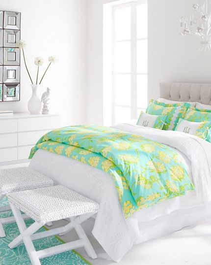 Lilly Pulitzer#174; Racy Lacy Bedroom Possibly for Hailey's room