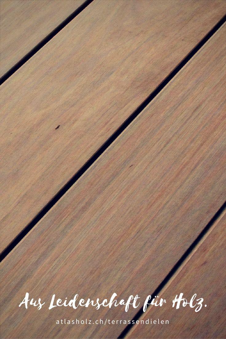 Terrassendielen aus Holz in Ipé glatt mit verdeckter Montage