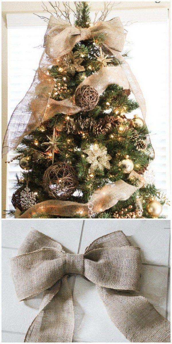 55 Rustic Farmhouse Inspired Diy Christmas Decoration Ideas For Creative Juice Christmas Decorations Rustic Diy Christmas Tree Topper Christmas Tree Themes