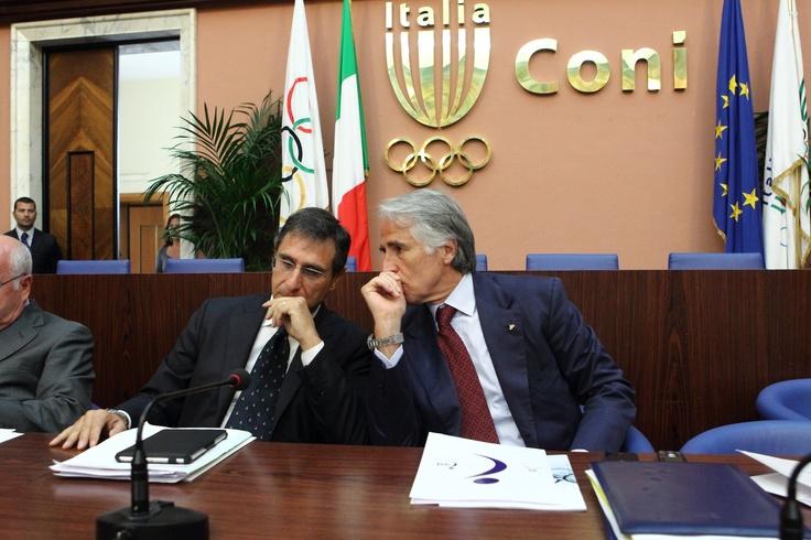 Claudio Barbaro - Presidente ASI con Giovanni Malagò - Presidente Coni