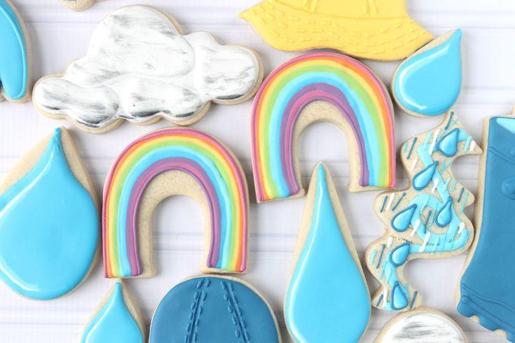 Rainbow Decorated Cookie (Tutorial)