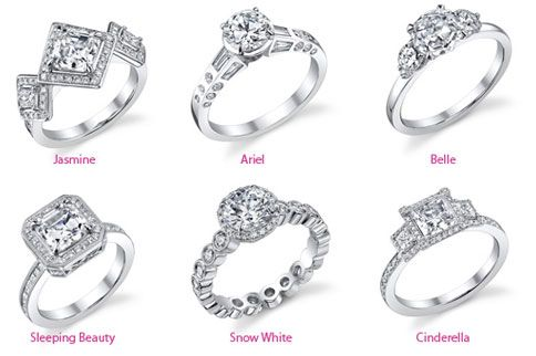 Disney inspired wedding rings.
