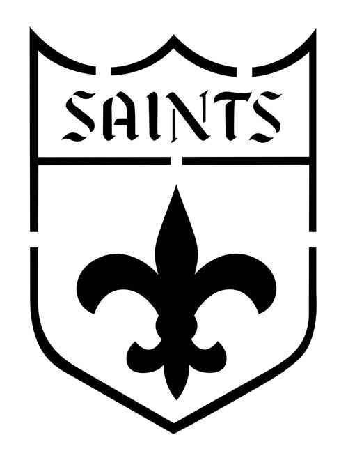 New Orleans Saints Pumpkin Stencils