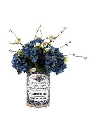 45% OFF Creative Displays Blue Hydrangea Floral in Label Pot (Blue)