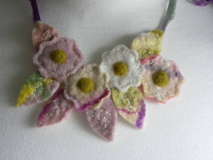 handmade felt posie necklace: Pinkney Handmade, Felt Posie, Posie Necklace, Pinkney Felt, Handmade Felt