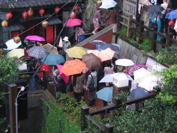 Umbrellas everywhere. Photo by Kosta