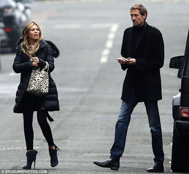Abbey Clancy and Peter Crouch enjoy romantic post-Valentine's day out #dailymail