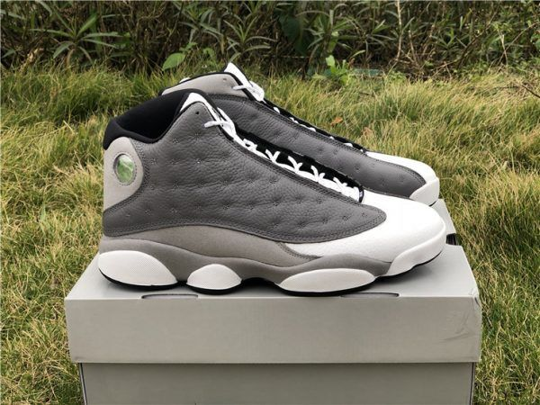 official photos 08c79 e58a0 2019 New Air Jordan 13 Atmosphere Grey White University Red-Black For Men-5